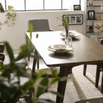 bộ bàn ăn 4 ghế lenus 19