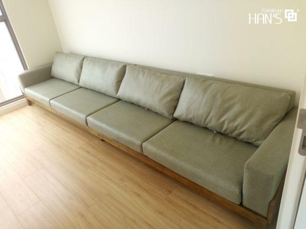 Sofa Alma Gỗ Hàn Quốc-trắng vàng