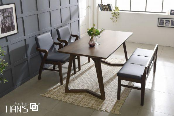 bộ bàn ăn 4 ghế lenus 1