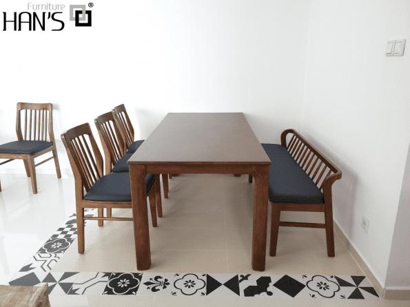 bộ bàn ăn zena 4