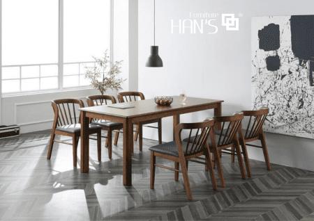 bộ bàn ăn hàn quốc ryan 47