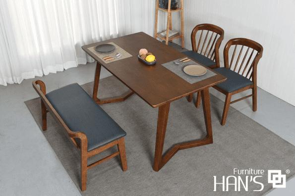 bộ bàn ăn riley 4